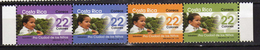 Costa Rica 2002 - X-mas With Surcharge For Children Strip Of 4.MNH - Costa Rica