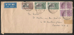 1935, INDIA. KGV SILVER JUBILEE AIR MAIL COVER TO LONDON, UK. - 1911-35 Roi Georges V