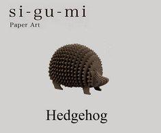 SI-GU-MI Paper Art :  Hedgehog ( Azone ) - Small Figures