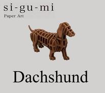 SI-GU-MI Paper Art :  Dachshund ( Azone ) - Small Figures