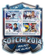 CENTRAL AFRICA 2017 ** Ice Hockey Eishockey Hockey Sur Glace Sochi 2014 M/S - OFFICIAL ISSUE - DH1710 - Eishockey
