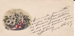 MINI CARTE------fleurs--voir  2 Scans - Old Paper