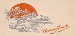 MINI CARTE--BONNE ANNEE---paysage + Ferme---voir 2 Scans - Old Paper