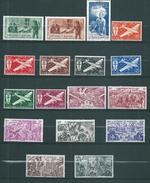 PA  De St Pierre Et Miquelon De 1942/46 N°1 A 17 Complet  Neufs ** - Airmail