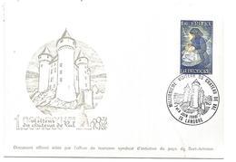 OBLITERATION COMMEMORATIVE MILLIONIEME VISITEUR DU CHATEAU DE VAL - LANOBRE CANTAL - Storia Postale
