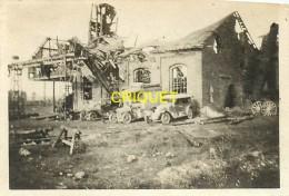Guerre 14-18, Photo Originale D'un Poilu, La Sucrerie De Frise, Tacots Militaires..., Beau Document - Guerre 1914-18