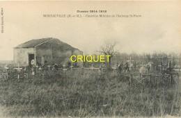 Guerre 14-18, Montauville, Cimetière Militaire De L'Auberge St Pierre, Carte Pas Très Courante - Oorlog 1914-18