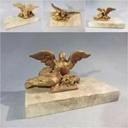 *STATUE OISEAUX DORES - Sculpture Statuette Régule Oiseau - Autres