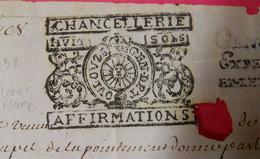 1698-1707 Généralité De Toulouze Toulouse 2 Parchemins Ind: RARES Chancellerie N°203 Et Exped Greffiers 8S N°221 Devaux - Cachets Généralité