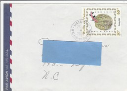 R] Enveloppe Cover Wallis & Futuna Fruit Tropical Dessin D'enfant Child Drawing - Covers & Documents