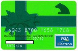 Credit Card - Carte De Credit - CAJA DE MADRID - VISA ELECTRON - Geldkarten (Ablauf Min. 10 Jahre)