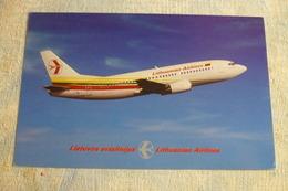 AIRLINE ISSUE / CARTE COMPAGNIE    LITHUANIAN AIRLINES  B 737 300   Carte En Papier Fin - 1946-....: Moderne