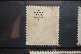 Perfin Semeuse Perforé Lochung Sigle 7-1 Dessin étoile