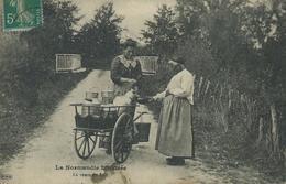 14,Calvados, Folklore, La Normandie Illustrée, La Vente De Lait, Animations, Scan-Recto-Verso - France