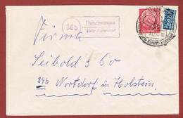 Posthilfsstelle Fleischwangen über Aulendorf   14 B Brief - BRD