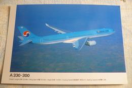 AIRLINE ISSUE / CARTE COMPAGNIE    KOREAN AIR   AIRBUS A 330 300 - 1946-....: Ere Moderne