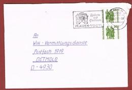 Brief Werbestempel Spitzen Und Gardinen Plauen Vogtland 1990 VGO - Textile