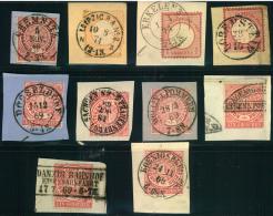 1869/1874, 10 Pracht-/Kabinett-Briefstücke Mit Schönen Stempelabschlägen. - Allemagne