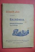 Ersatzteil-Liste Zur Original SAXONIA Aufsattel-Drillmaschine Typ A 591-5,00 - Bernburg/ Saale DDR 1966 - Catalogues
