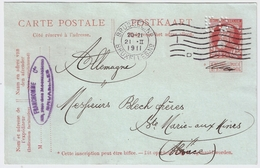 """Perfore  """" FC """" Entier, Gros Barbe , 1911 , #7849 - Perfins"""