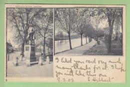 BEDFORD : Bunyan's Statue, Embankment Gardens. Dos Simple. 2 Scans. Edition Raphaël Tuck - Bedford