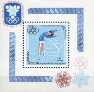 Winterolympiade Grenoble France 1968 Mongolei Block 13 ** 8€ Eiskunstlauf Sport Bloc M/s Olympics Sheet Bf Mongolia - Mongolie