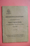 Ersatzteil-Katalog TRAKTORRECHEN Type E 451 - Landmaschinenbau Dahme (Holstein) 1964 - Catalogues