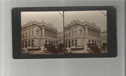 MARSEILLE (13) PHOTO STEREOSCOPIQUE DE LA BOURSE ET CHAMBRE DE COMMERCE (TRAMWAYS A CHEVAUX ET PUB BYRRH) 1897 - Stereoscopic