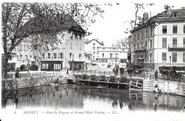 Annecy. Le Grand Hotel Verdun Et Le Pont Du Paquier. - Annecy