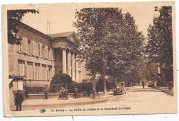 CPSM Brive La Gaillarde 19 Corrèze Palais De Justice Boulevard Du Palais Vieux Tacot éditeur Hirondelle N°36 - Brive La Gaillarde