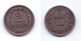 Hungary 2 Filler 1940 (iron) - Ungarn