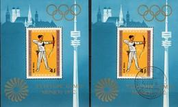 Sommer-Olympiade München 1972 Mongolei Blocks 29 **/o 14€ Bogenschießen Hoja Sport Blocs Olympic Sheets Bf Mongolia - Mongolia