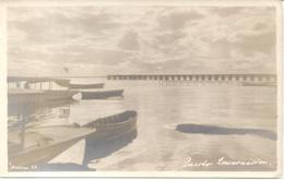 PUERTO ENCARNACION CON BARCOS PEQUEÑOS 1900s PARAGUAY RARO EDITOR JENSEN FOTOPOSTAL PRECURSORA UNCIRCULATED TBE - Paraguay