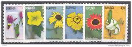 Burundi COB 1109/14 Flowers-Bloemen-Fleurs 2002 MNH