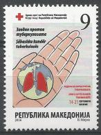 MK 2016-ZZ177 RED CROSS TBC, MACEDONIA, 1 X 1v, MNH - Mazedonien