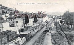 (47) Port Sainte Marie - Ligne Du Midi - Bordeaux à Cette - 2 SCANS - Francia