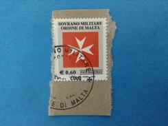2005 SOVRANO ORDINE MILITARE DI MALTA FRANCOBOLLO USATO STAMP USED - SMOM CROCE OTTAGONA - - Sovrano Militare Ordine Di Malta