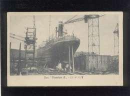 "Varo "" Piombino II "" 23 10 1925 , Livorno Chantier Construction Du Bateau  Cargo Piombino II Genova"