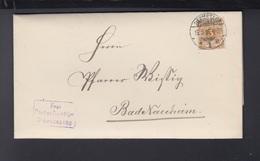 Dt. Reich Portopflichtige Dienstsache 1899 Darmstadt - Briefe U. Dokumente