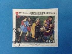2007 SOVRANO ORDINE MILITARE DI MALTA FRANCOBOLLO USATO STAMP USED - SMOM NATALE PASTORI 1,45 - - Sovrano Militare Ordine Di Malta