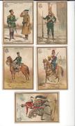 """5 """" L'ARMEE RUSSE """" Publicité Hachette & Cie ( état Moyen ) - Vieux Papiers"""