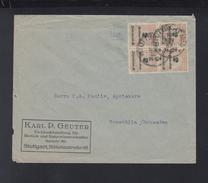 Dt. Reich 4er Block Auf Brief Stuttgart 1923 - Briefe U. Dokumente