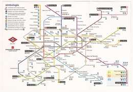 MADRID Metro Plan - Billetes De Transporte