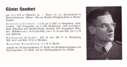 Personalkarte Wehrmacht - Günter Haackert / Schwerin Und Werner Halm / Saarbrücken , Trier , Schwerin , NSDAP , Arzt !!! - Historical Documents