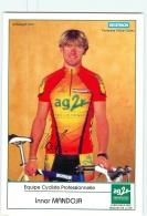 Innar MANDOJA, Autographe Manuscrit, Dédicace. Cyclisme. 2 Scans. AG2R Decathlon 2000 - Cyclisme