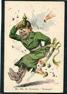 """CPA - Illustration H. Muller - Un Pas De Conduite """"Kolossal"""" - Guerre 1914-18"""