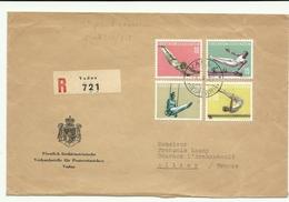 Premier Jour Série Gymnastique Liechtenstein YT N° 315/378 Pour L'Allier, En Recommandé - Liechtenstein