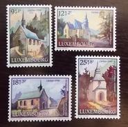LUXEMBOURG Y&T N° 1209/1212 Neufs ** SUR DES CHAPELLES POUR CARITAS 1990 - Luxembourg