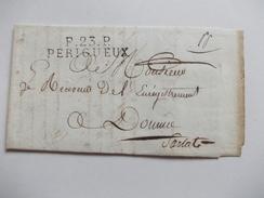 VIEUX PAPIERS Carte Lettre De Perigueux à Destination De  Sarlat Du Directeur De L'enregistrement Et Des Domaines - Vecchi Documenti