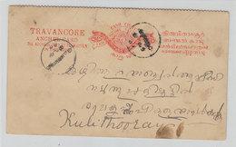 India TRAVANCORE POSTAL CARD - Zonder Classificatie